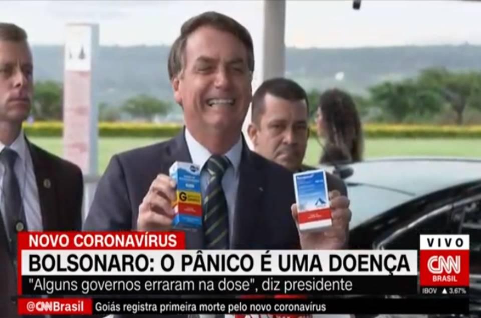 Cloroquina não tem efeito colateral afirma Bolsonaro